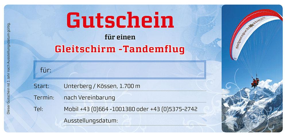 Gutschein-Tandemflug