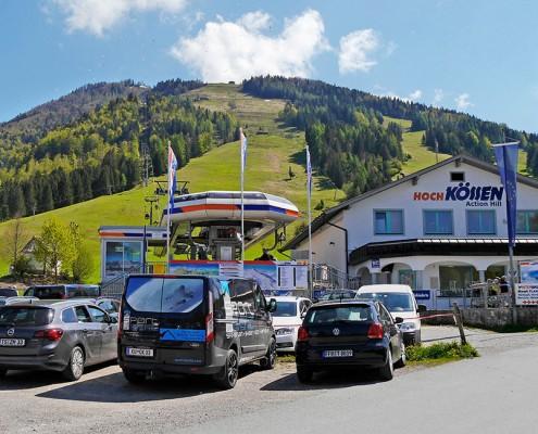 Bergbahn Hochkössen, Parkplatz