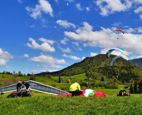 Landeplatz Hochkössen neben Sigi's Sportklause